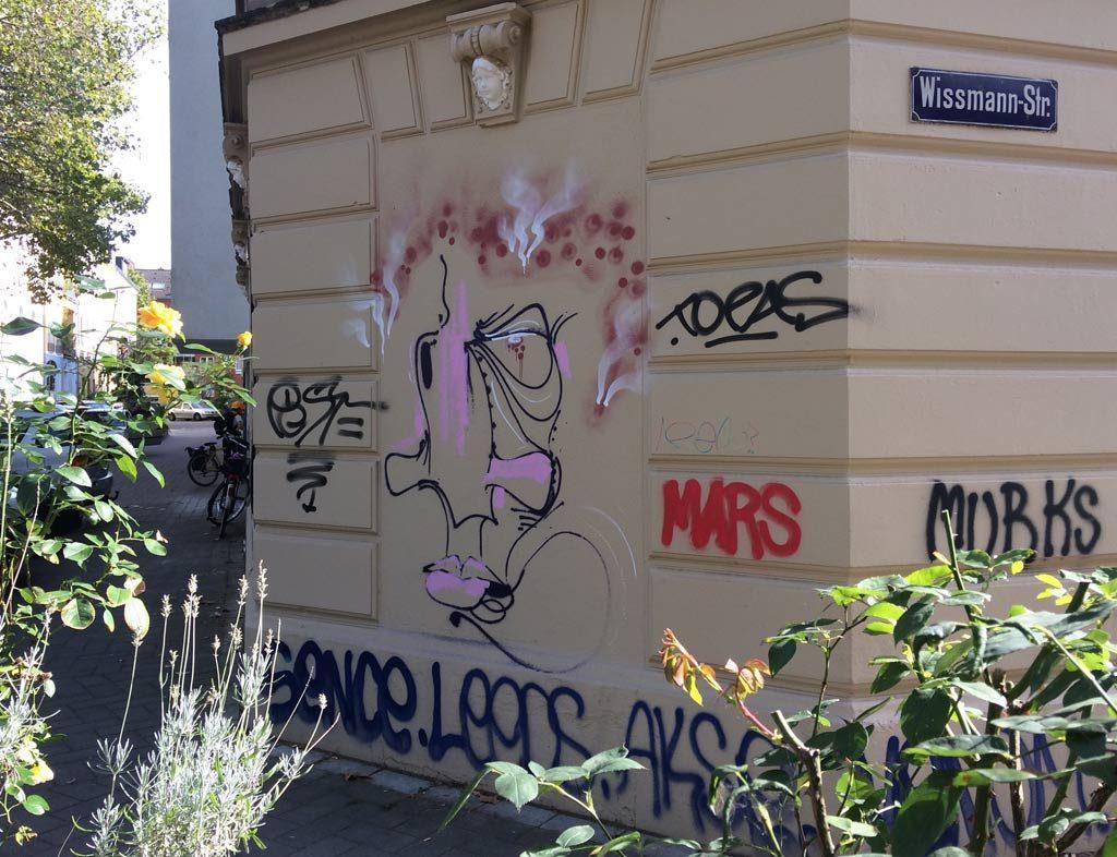 Graffiti Wissmann- Ecke Grimmstraße