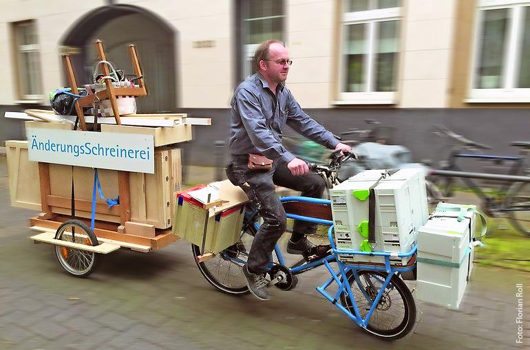Joachim Hoff: Der Schreinermeister, der mit dem Rad kommt