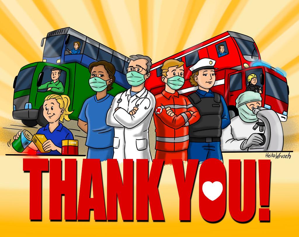 Ein Dankeschön an alle Helfer - von Illustrator Heiko Wrusch.