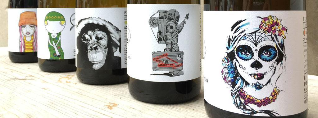 Streitart-Motive aus Ehrenfeld zieren die Flaschen der IMI Winery